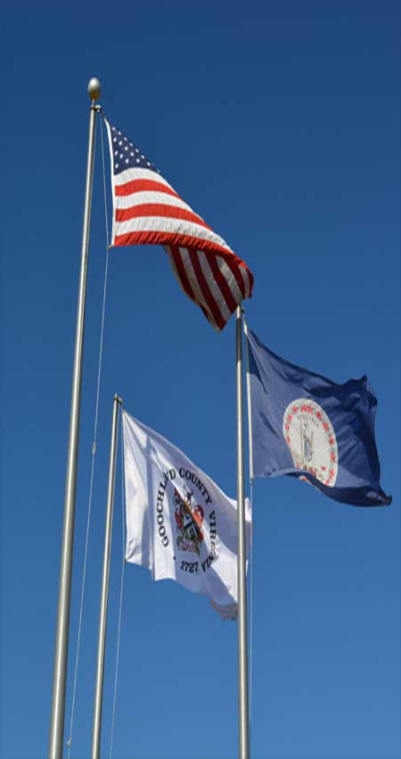 Flags at the Goochland County Admin Building