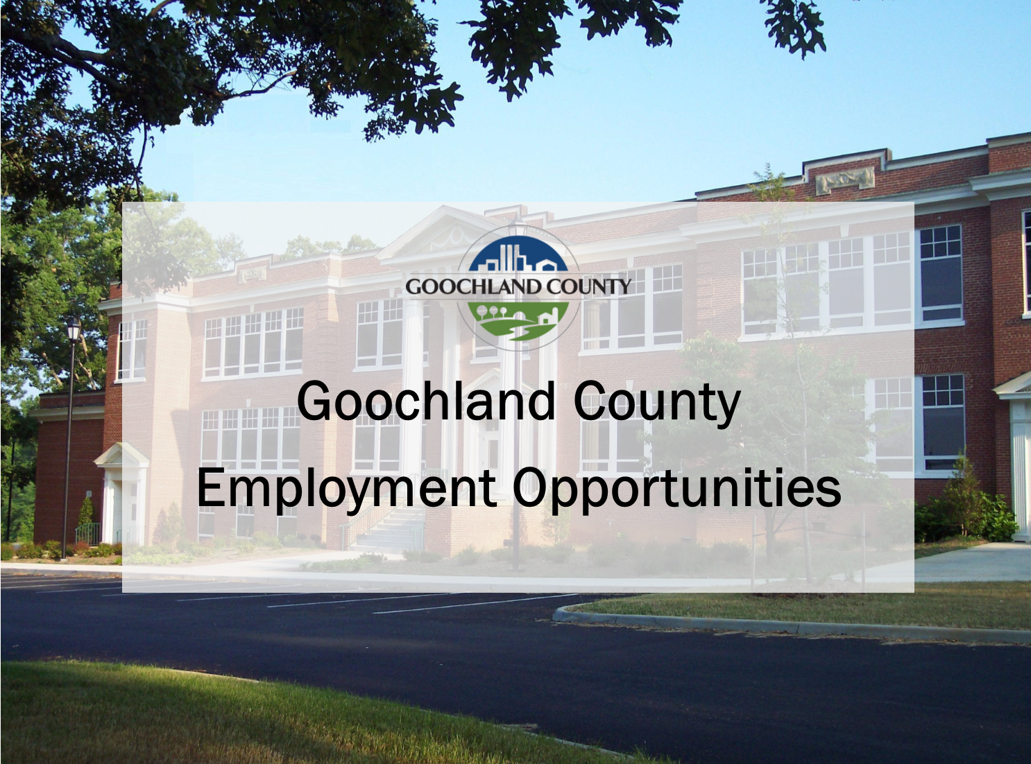 Goochland County Employment Opportunities