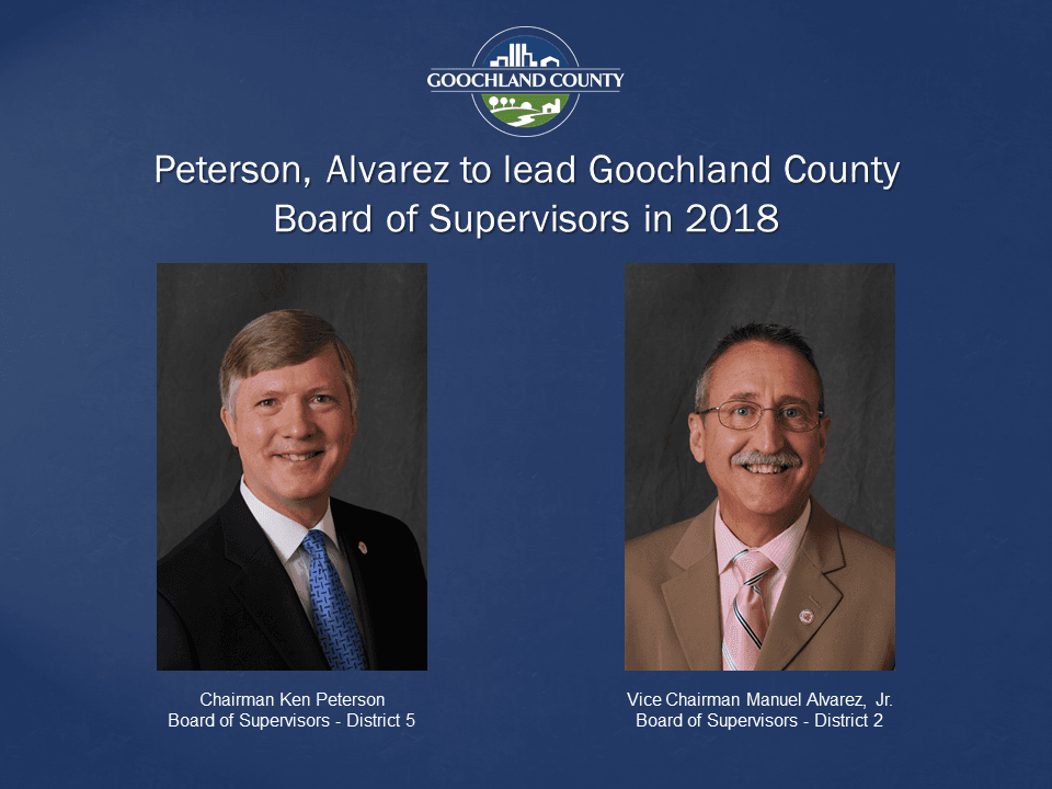 Goochland County - Peterson Alvarez to lead in 2018