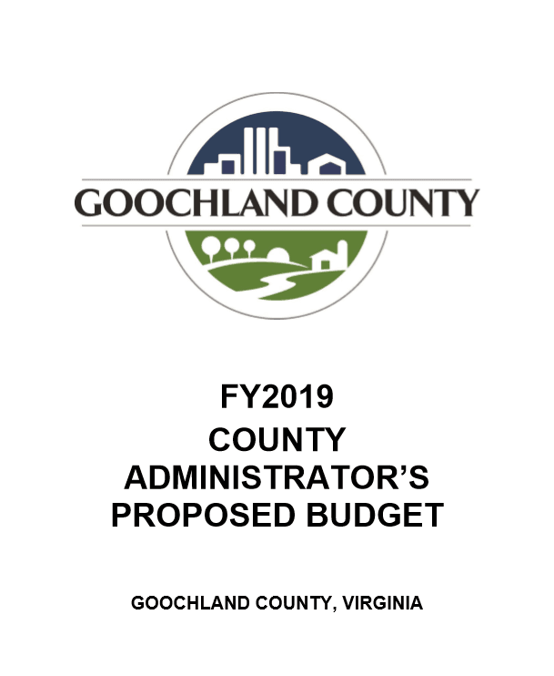 FY2019 County Administrators Proposed Budget - Cover