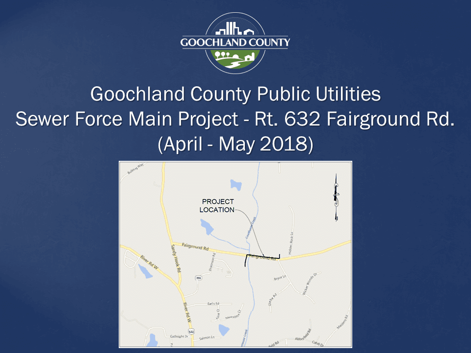 Goochland County - Public Utilities Animal Shelter Sewer Project