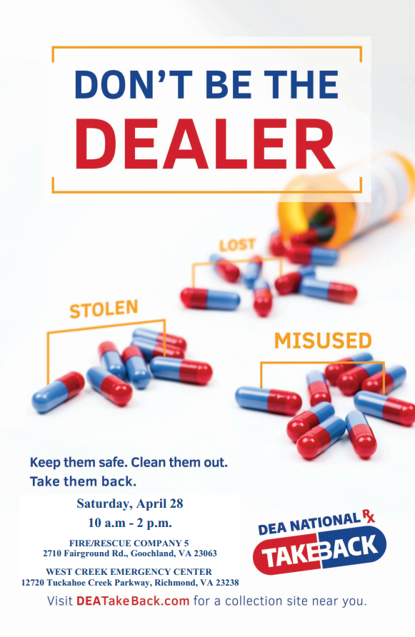National Drug Take Back Day - April 28 2018