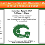 Goochland Special Recycling Event - June 9 2018