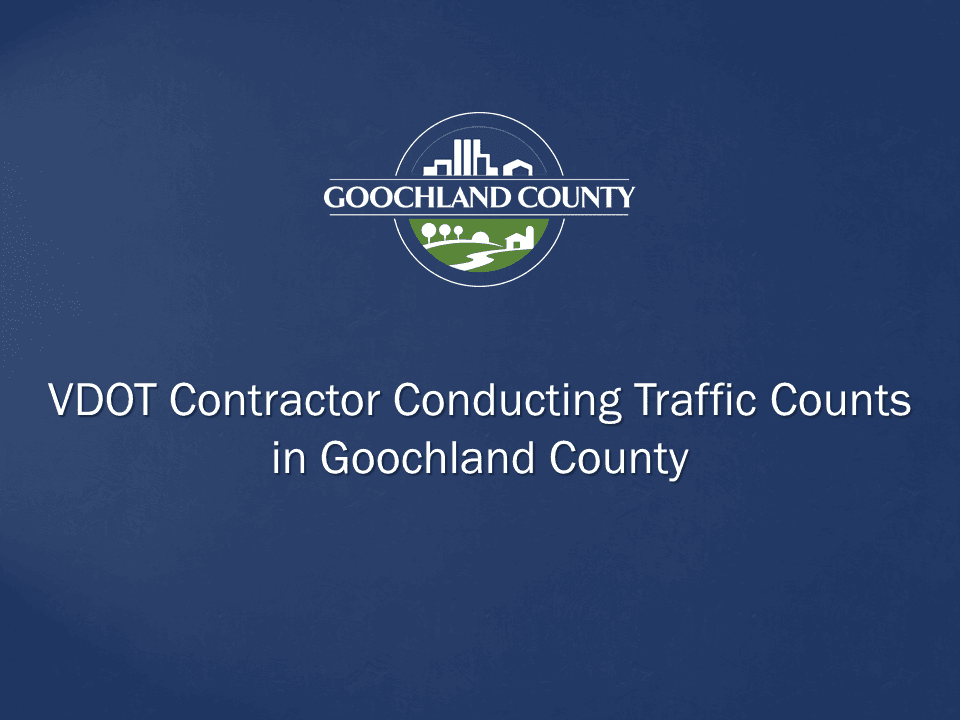 Goochland County - VDOT Contractor Traffic Counts 2018