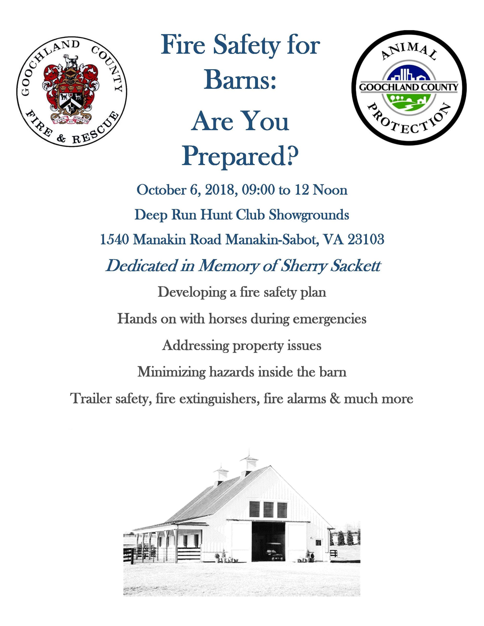Fire Safety for Barns