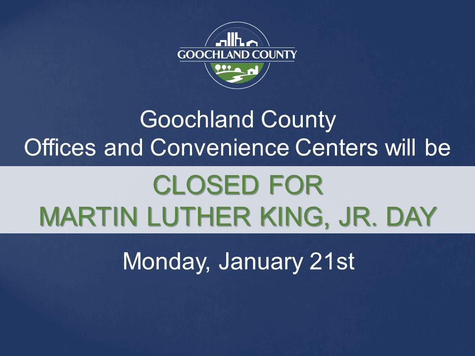 Goochland County - Martin Luther King Holiday