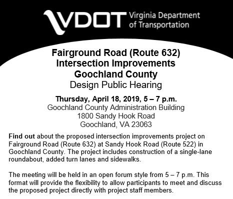VDOT - Fairground Rd Intersection Improvements - Design Public Hearing - April 2019