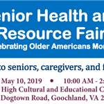 Senior Health and Resource Fair - Info - May 10 2019