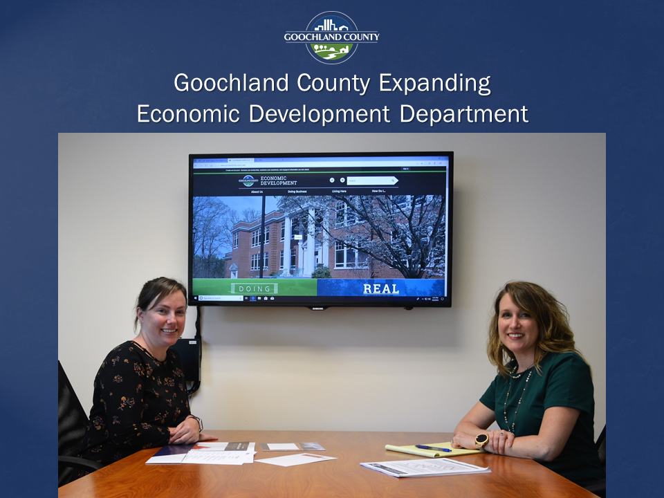 Goochland County Expanding Economic Development Department