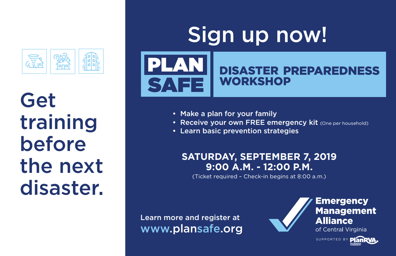 PlanSafe Disaster Preparedness Workshop - 2019