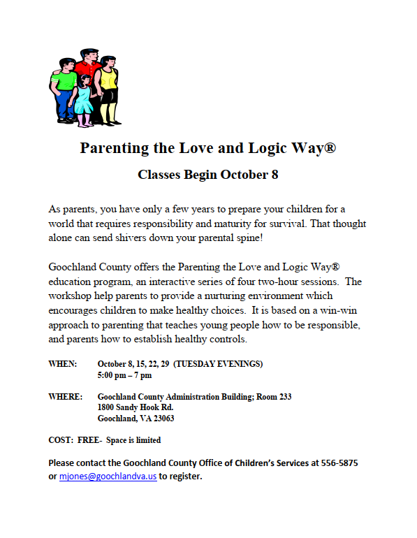 Goochland County_Parenting the Love and Logic Way - October 2019