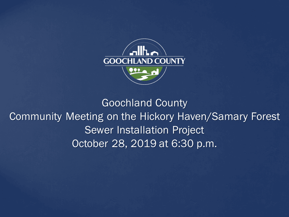 Goochland County - Hickory Haven Samary Forest Sewer Project