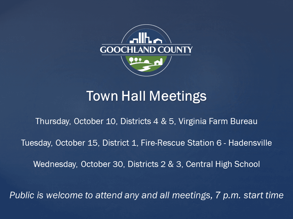 Goochland October_ 2019 Town Hall Mtgs