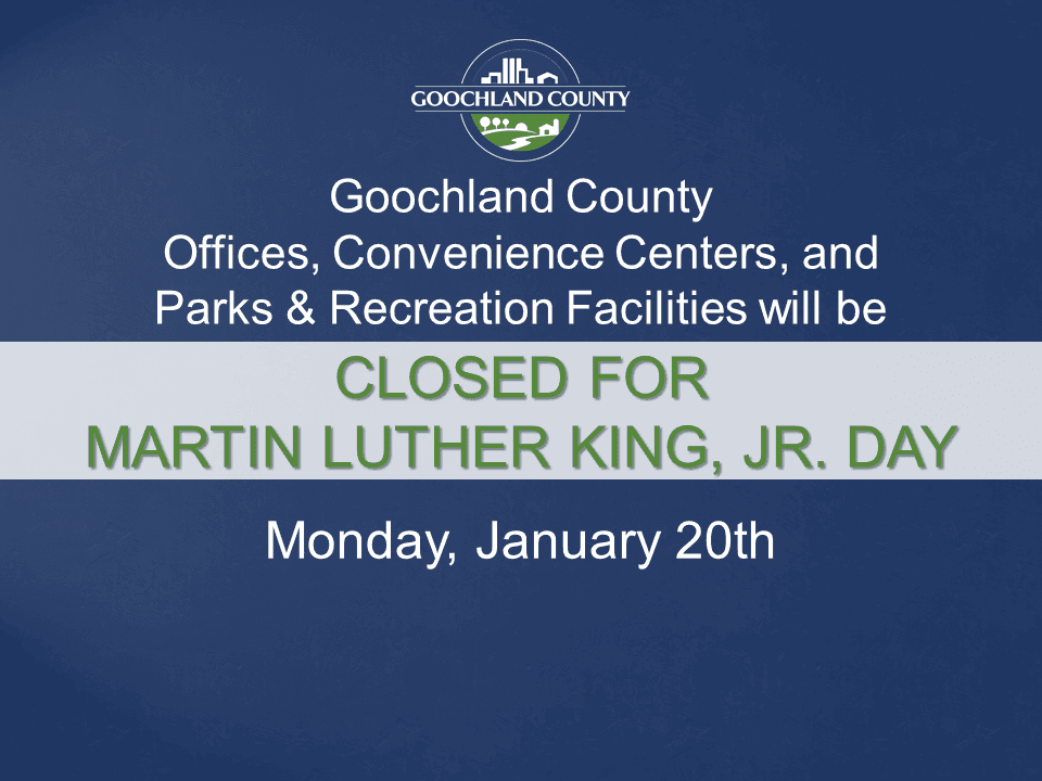 Goochland County - Martin Luther King Holiday - 2020