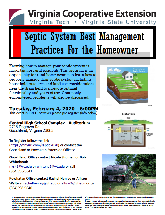 2020 Septic System BMPs for the Homeowner - 2-4-20