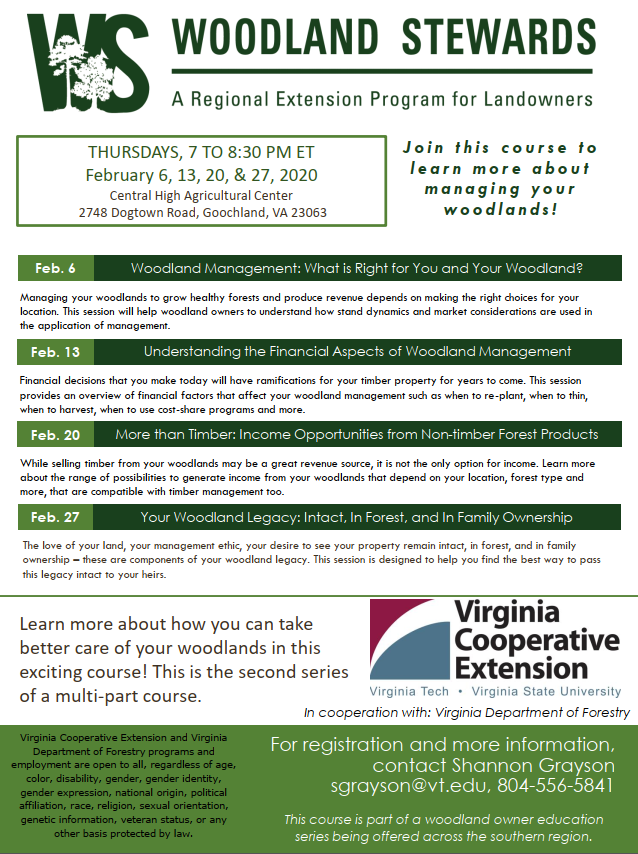 Woodland Stewards - Regional Extension Program - February 2020