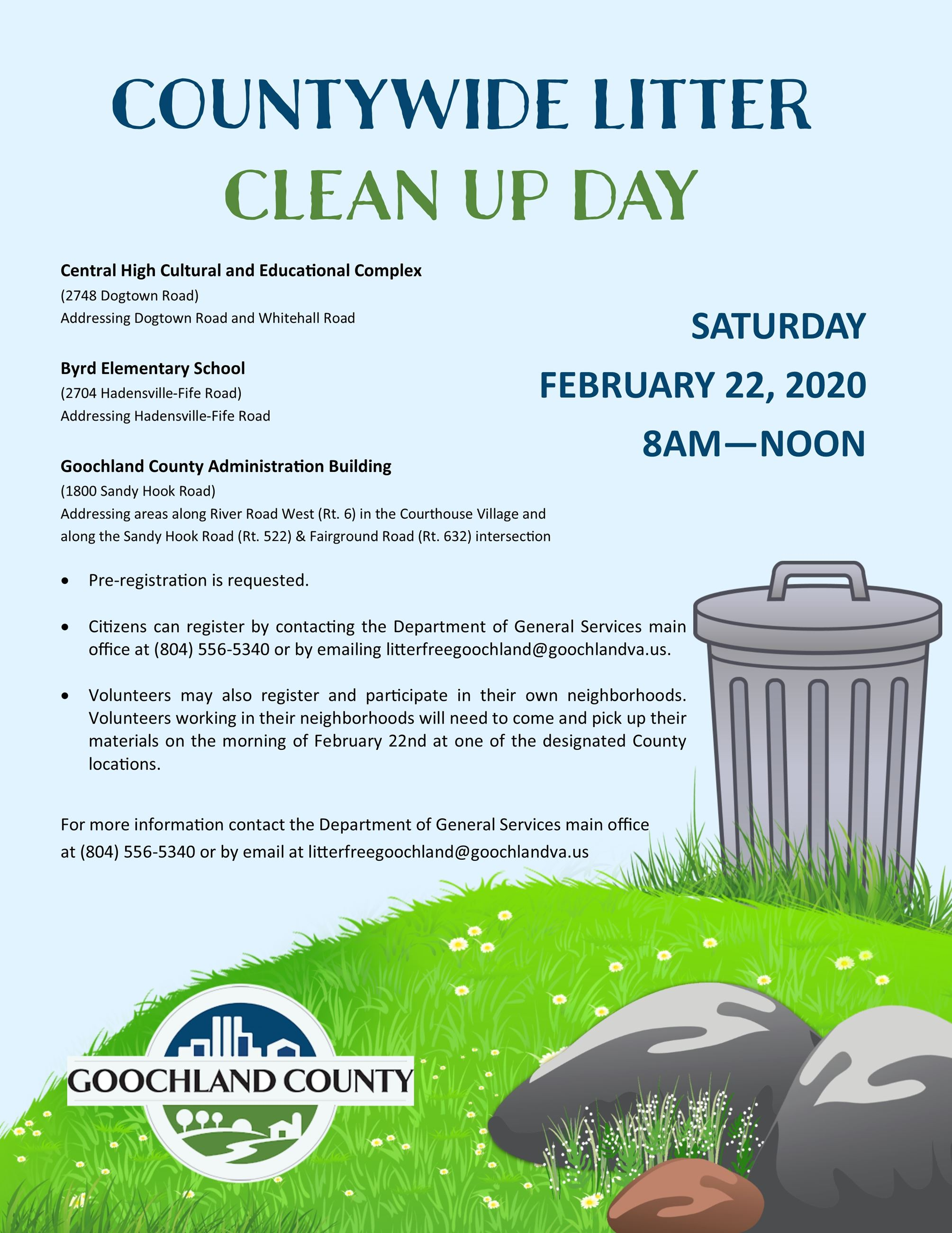 Countywide clean up flyer - February 2020