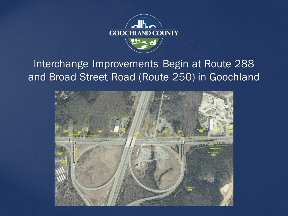 Goochland - Route 288 and 250 Interchange Improvements Begin March 30 2020