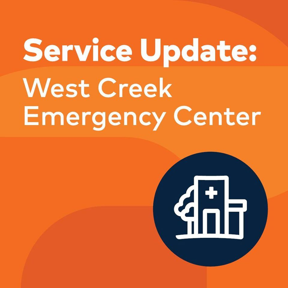 HCA West Creek Service Alert