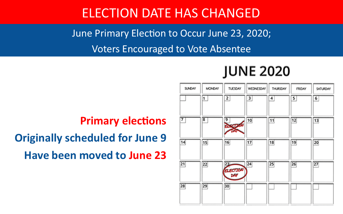 Elecctions Date Changed - June 23 2020