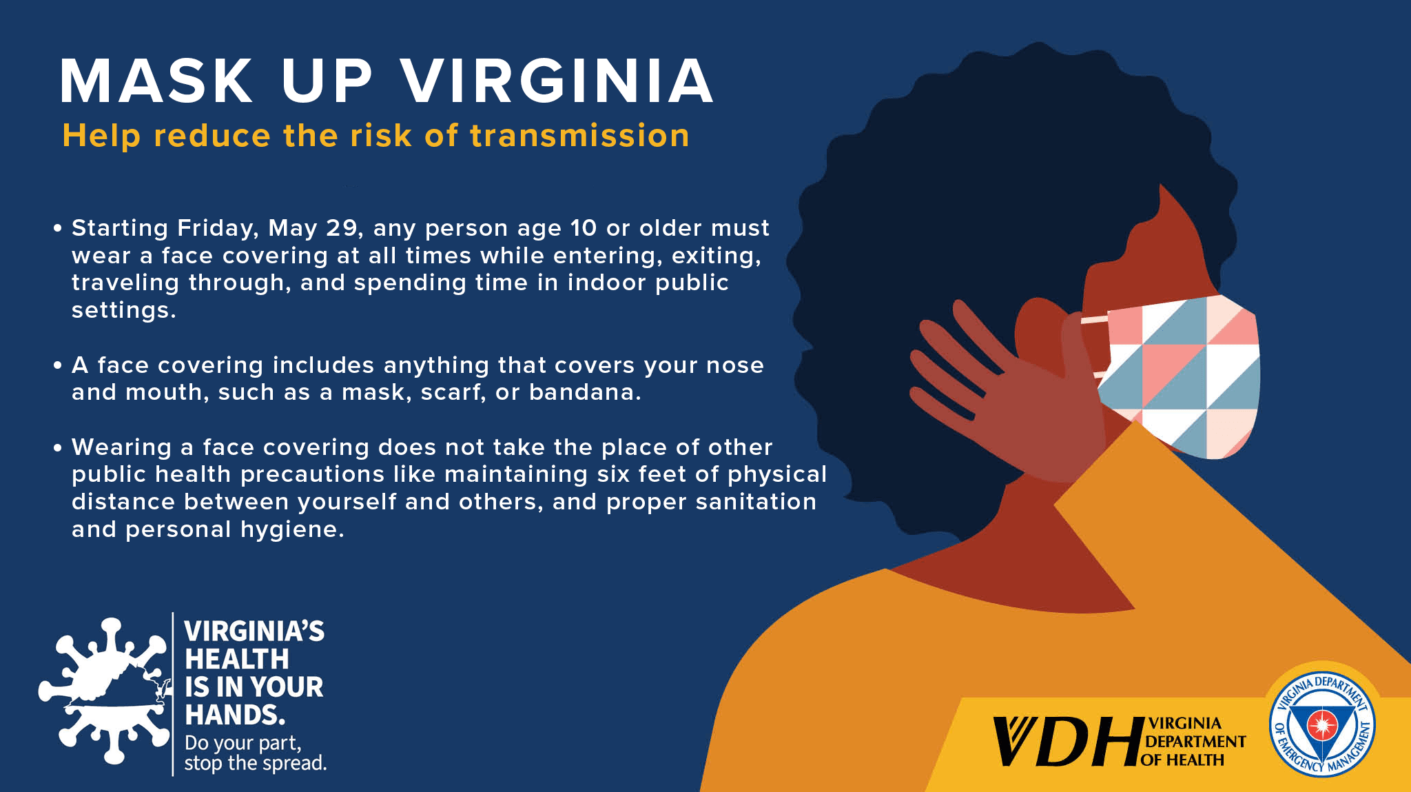 VDH VDEM - Mask Up Virginia - Graphic