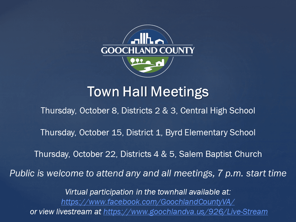 Goochland October_ 2020 Town Hall Mtgs