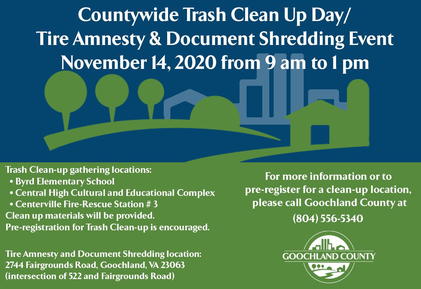 Goochland Countywide Clean Up Flyer Nov 2020