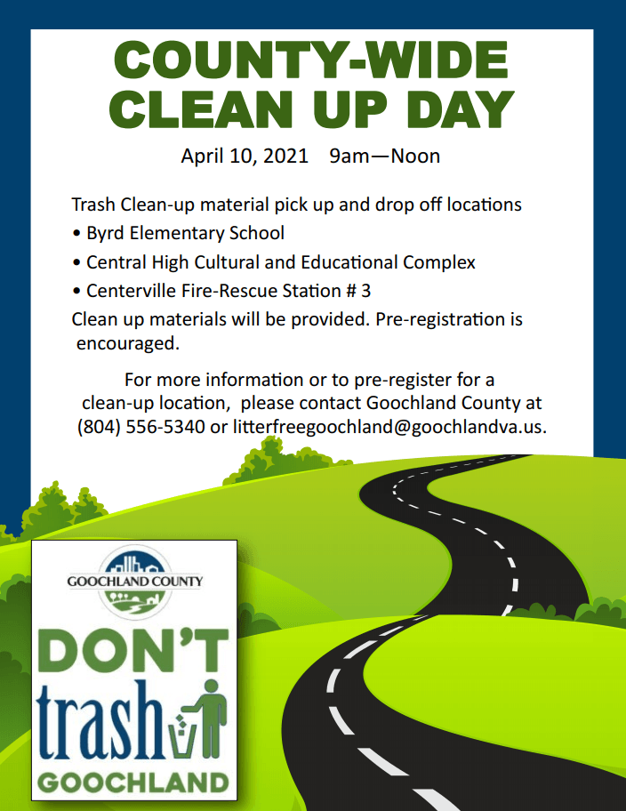 County Wide Clean Up - April 10 2021