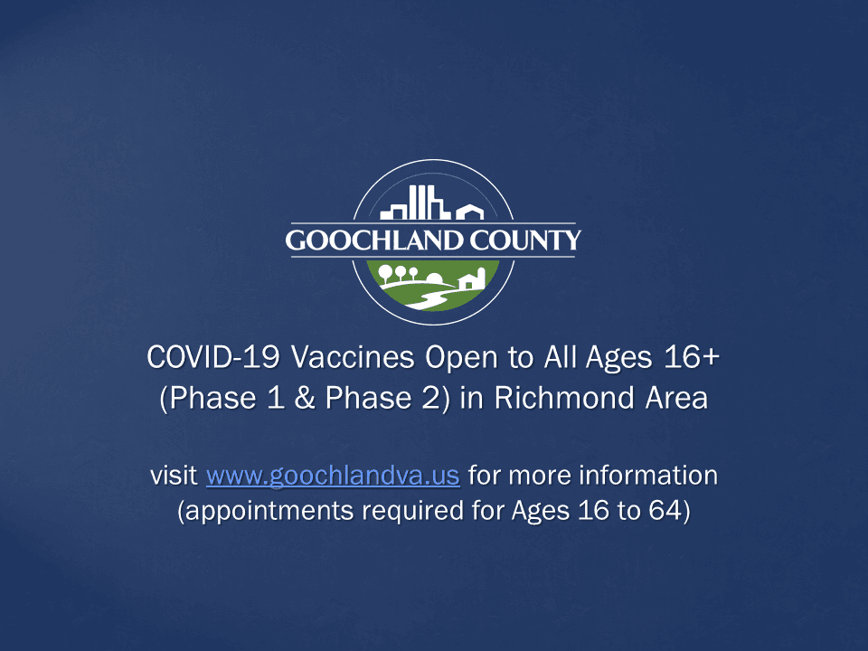 COVID-19 Vaccines Open to All Ages 16 in Richmond Area