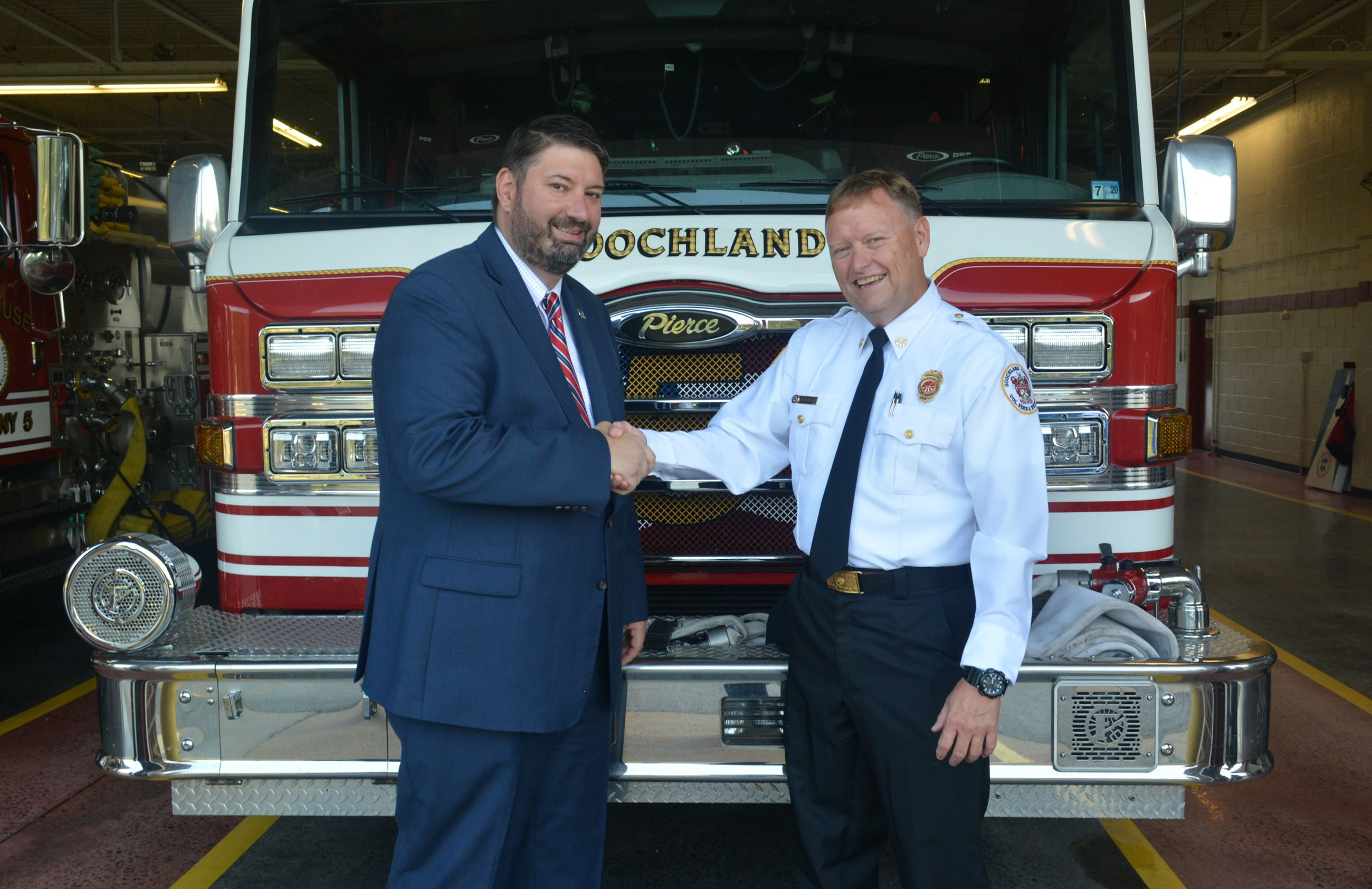 Goochland County - Chief Ferguson and County Administrator Budesky - DSC_0312
