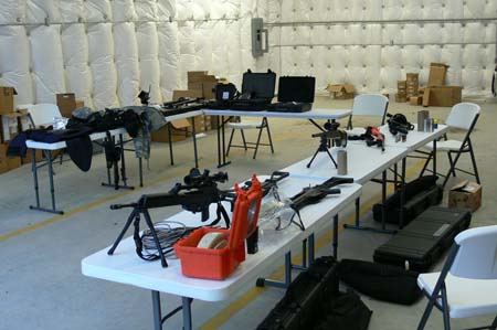 Specialized equipment on display